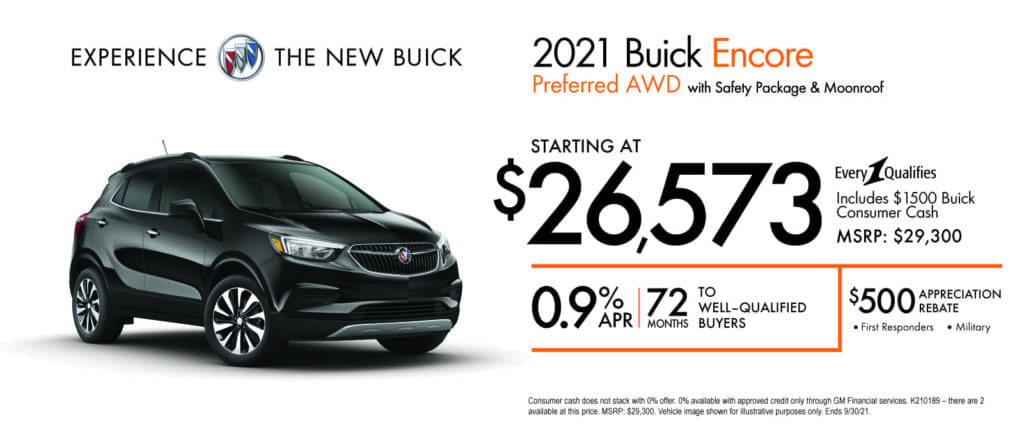 New 2021 Buick Encore - Purchase Option