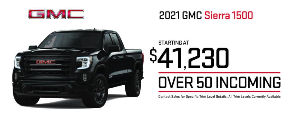 New 2021 GMC Sierra