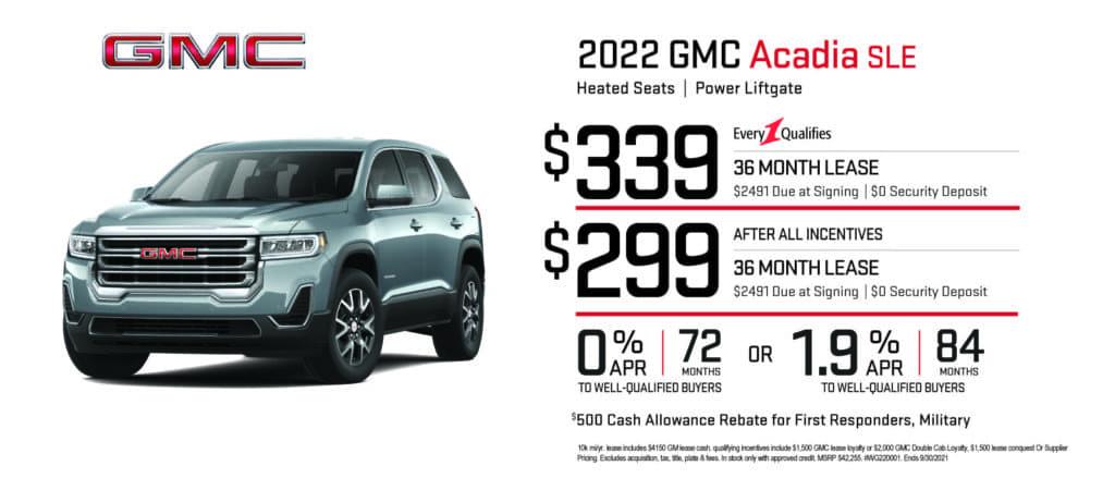 New 2022 GMC Acadia