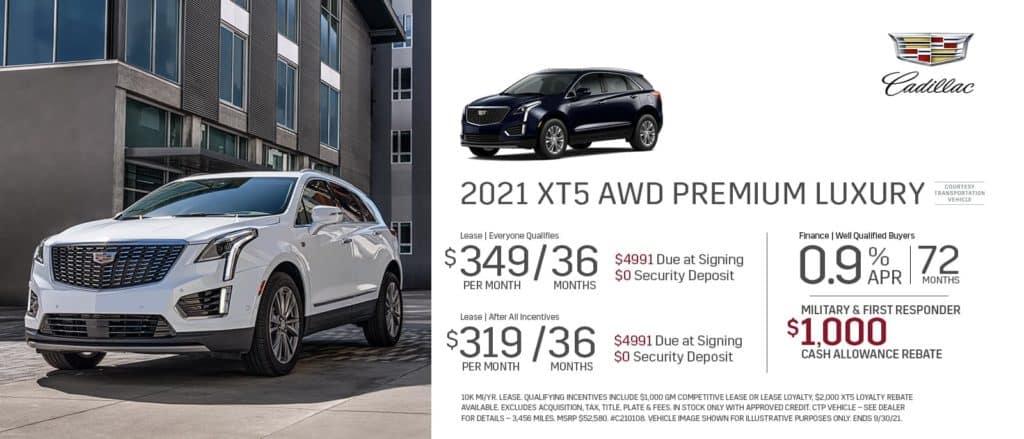New 2021 Cadillac XT5