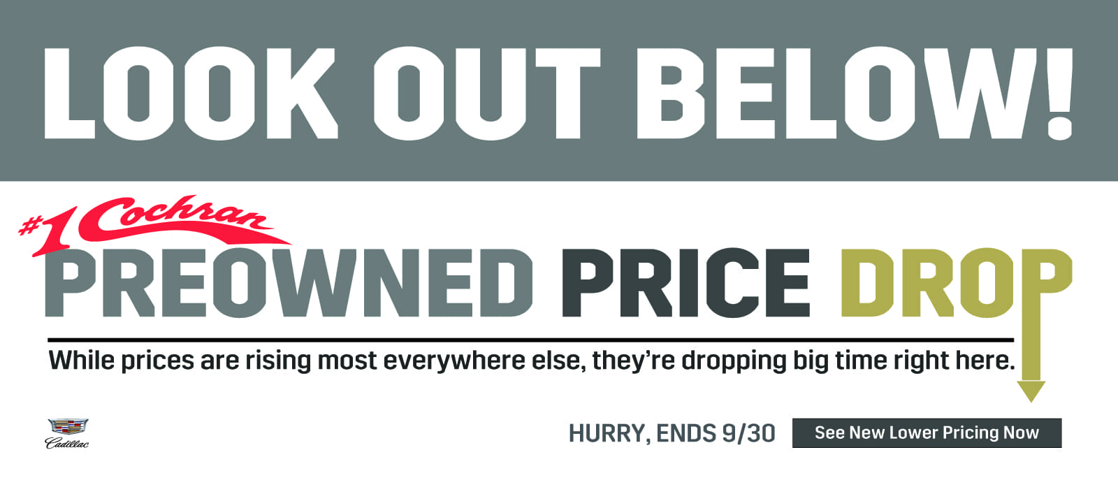 Sep 2021 Preowned Price Drop CS Slide_Cadillac