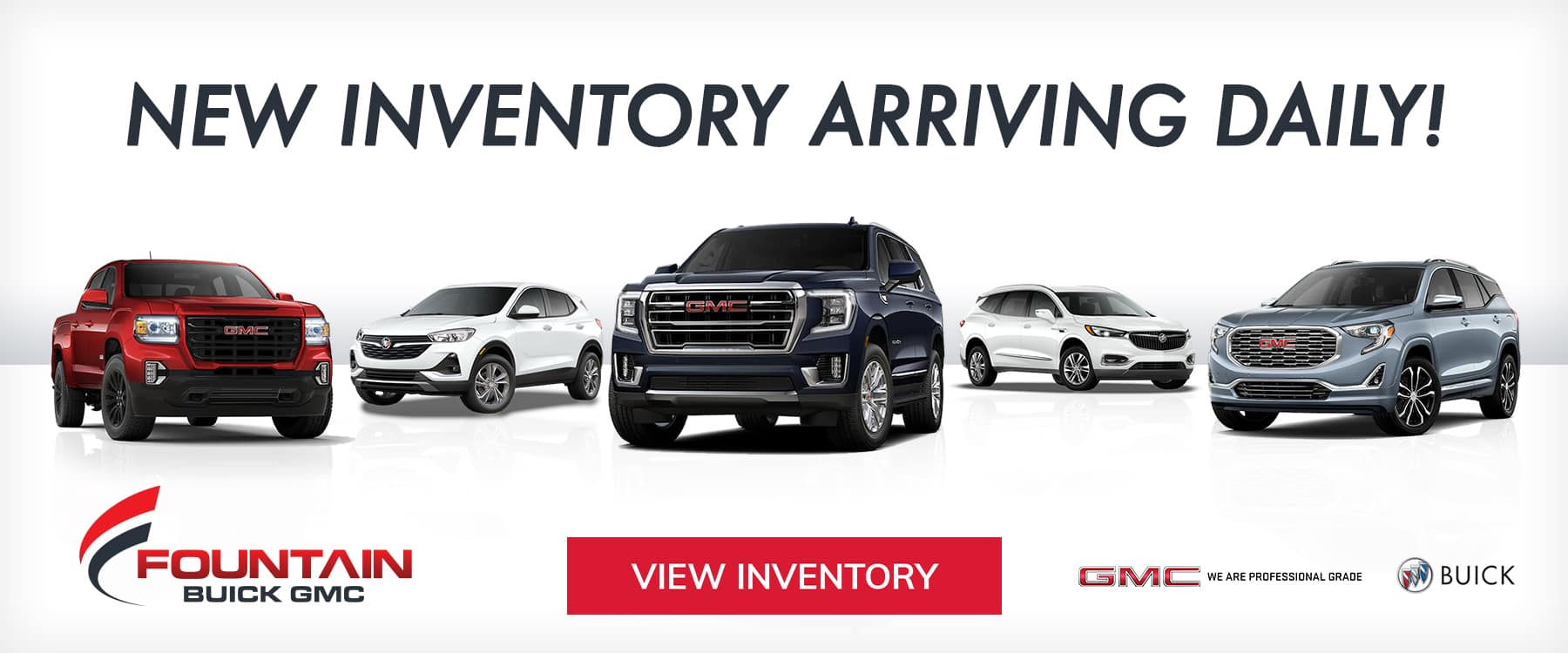 New Inventory Arriving Daily