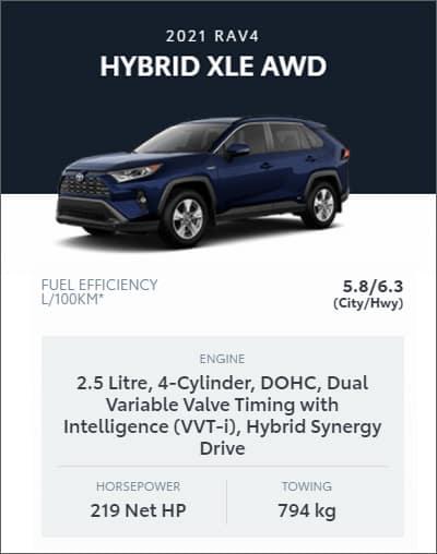 2021 RAV4 HYBRID XLE AWD