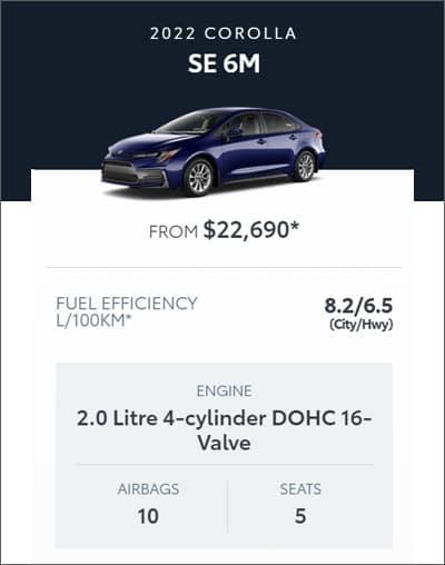 2022 Toyota Corolla SE 6M