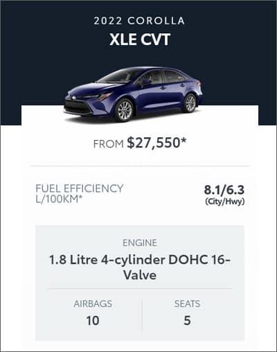 2022 Toyota Corolla XLE CVT