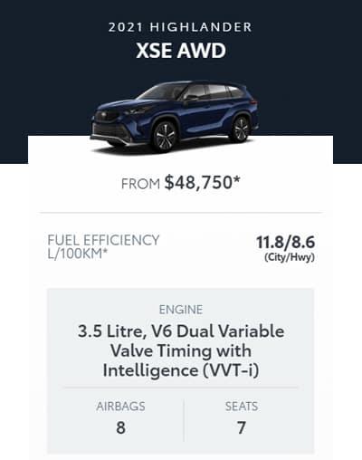 2021 Highlander XSE AWD