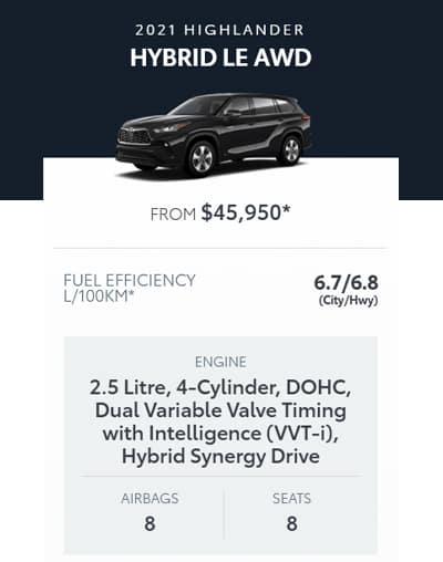 2021 Highlander Hybrid LE AWD