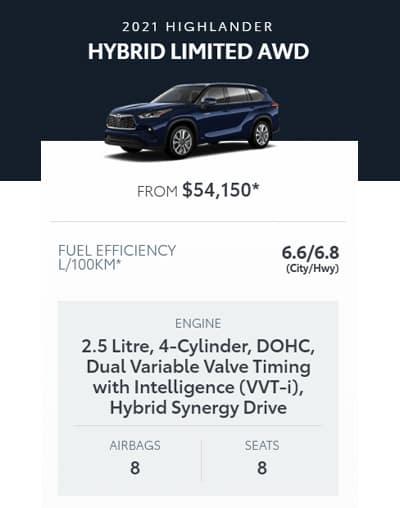 2021 Highlander Hybrid Limited AWD