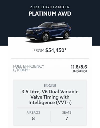2021 Highlander Platinum AWD