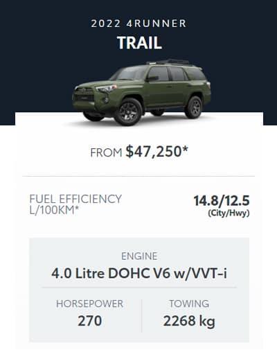 2022 4Runner Trail