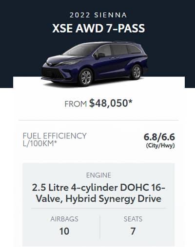 2022 Sienna XSE AWD 7-PASS