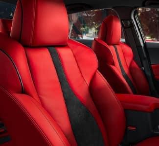 Red Acura interior