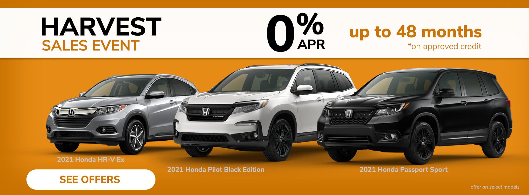 Price Honda SUV Harvest Sale