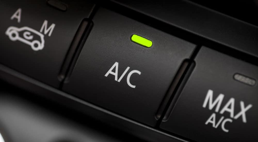 car ac button close up