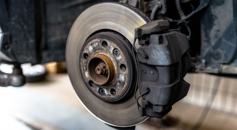 car brakes close up